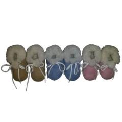 Decorpele Pantufas de Bebé em Pele de Ovelha N.º 17 Azul | Ref. 180.3-17A