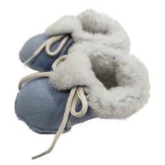 Decorpele Pantufas de Bebé em Pele de Ovelha N.º 18 Azul | Ref. 180.3-18A