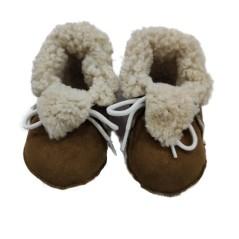 Decorpele Pantufas de Bebé em Pele de Ovelha N.º 21 Castanho | Ref. 180.3-21B