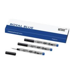 Pack 3 Recargas Montblanc Small Rollerball (M) Royal Blue   Ref. 238.124505