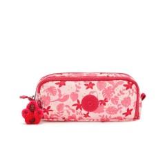 Estojo Escolar Kipling Gitroy Pink Leaves | Ref. 187.KI3560Q62