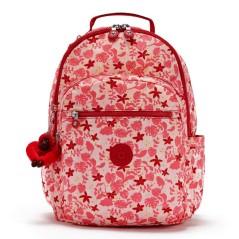 "Mochila para Portátil 15"" Kipling SEOUL Pink Leaves   Ref. 187.KI4851Q62"